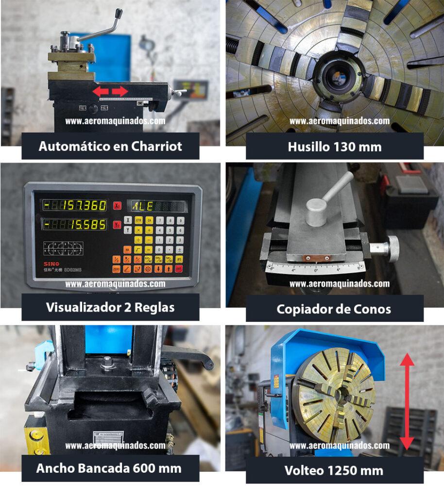 Características Torno Paralelo Gran Volteo CW62125Q x 3000 mm